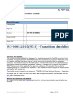 Transition Checklist - FDIS 9001