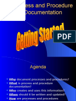 Process and Procedure Documentation Overview