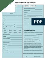 Dental Registration And History Form