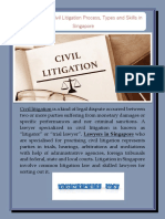 Know About Civil Litigation Process Types and Skills in Singapore
