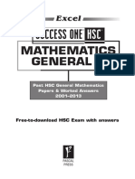 Excel Success One HSC General Mathematics SAMPLE 2014