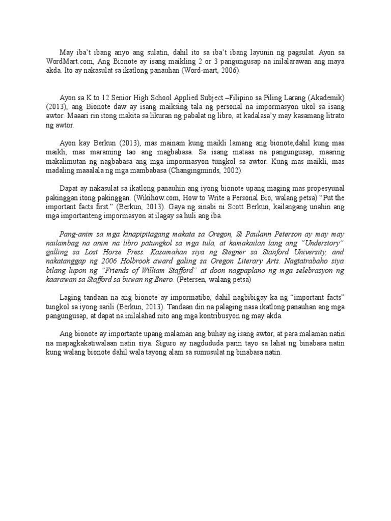 thesis na pangungusap halimbawa