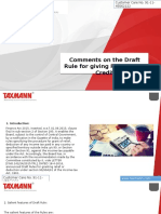 Comments on the Draft Rule for Giving Foreign Tax Credit