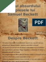 Samuel Beckett- Absurdul la Beckett