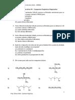 Lista de Exercícios 04 - Compostos Orgânicos Oxigenados