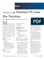 Every Day Nutritionvs Game Day Nutrition