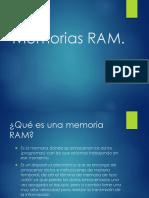 Presentacion Memorias RAM