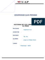 Historia de Caminos Del Perú
