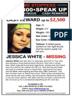 Missing poster for Jessica Leigh White