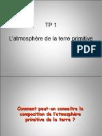 TP1. l'Atmosphère Primitive