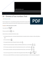 DI - Division of two numbers Trick ⋆ Banks Baba