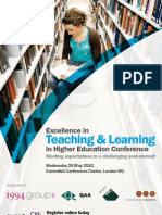 Excellence in Teaching & Learning in Higher Education
