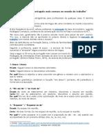 Os 50 Erros de Português Mais Comuns No Mundo Do Trabalho