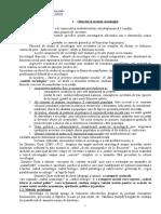 FEG-Note de Curs - Sociologie Note Curs Prima Parte