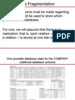 DDB Presentation1.2Data Fragmentation