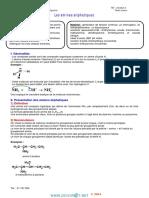 Cours - Chimie Les Amines Aliphatiques - 3ème Sciences Exp (2013-2014) Mr Chouket Hasen