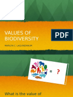 Values of Biodiversity, Threats to Biodiversity