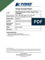 100 W Refrigeration Power Supply Using