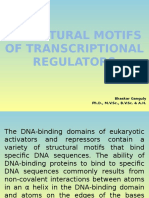 STRUCTURAL MOTIFS OF TRANSCRIPTIONAL REGULATORS