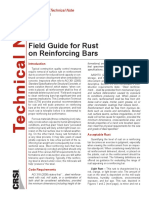 Field Guide for Rust on Reinforcing Bars