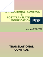 Translational  control & Post-translational modifications