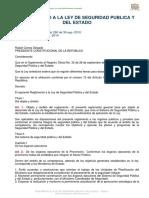 REGLAMENTO A LA LEY DE SEGURIDAD PUBLICA Y DEL ESTADO