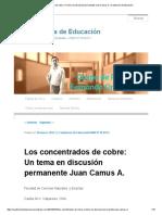 Los Concentrados de Cobre_ Un Tema en Discusión Permanente Juan Camus A