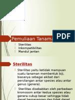 PT 4. Sterilitas, Inkompatibilas, Mandul Jantan