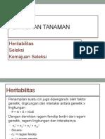 PT 7. Heritabilitas, Seleksi Dan Kemajuan Seleksi