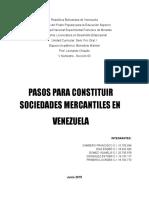 Pasos para constituir sociedades mercantiles en Venezuela
