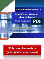 0 - Spesifikasi Geometrik Lanjutan 2016 - TP