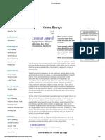 Crime Essays