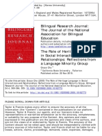 The Role of Heritage Language in Social Interactions and Relationships