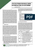 Modelo Sistematico de Optimizacion Para El Diseño Definitivo de Secciones de Canal de Costo Minimo