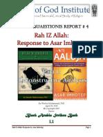 Ra IZ Allah Status Quaestionis Report