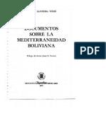 Documentos Sobre La Mediterraneidad Boliviana. Agustin Saavedra Weise
