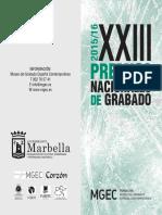 Bases XXIII Premios Nacionales de Grabado