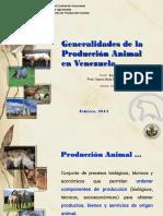 Generalidades de La Produccion Animal en Venezuela