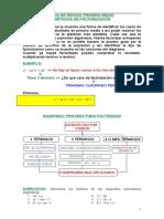 Ejercicios Factorización.doc