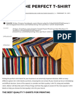 Picking The Best Quality T-Shirt Blanks | T-Shirt Magazine