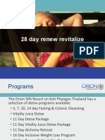 Orion Healing 28 Day Renew-revitalize