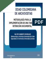 Metodologia Implementacion TRD (SCA)