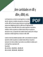 Guia Sobre Cantidades en DB y DBm