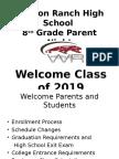 updated 2015 8th grade parent night