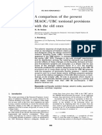 A Comparison of the Present SEAOC - UBC Torsional Provisions With the Old Ones