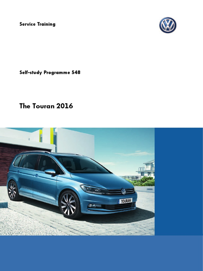 Ssp Nr 548 The Touran 2016pdf Headlamp Diesel Engine Vw Wiring Diagram Pdf