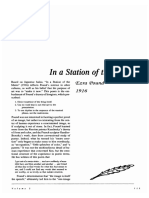 POUND, Ezra-In a Station of the Metro (Poetry for Students Vol. 02)