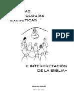 Nuevas metodologías exegéticas e interpretación de la Biblia