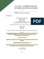Desarrollo Del i Examen Parcial de Instalaciones en Edificaciones i