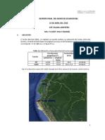 Reporte Sismo Ecuador